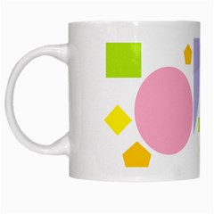 Spring Geometrics White Coffee Mug by StuffOrSomething