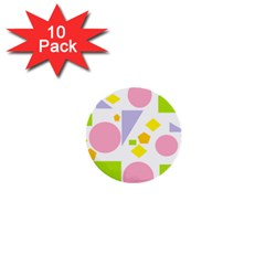 Spring Geometrics 1  Mini Button (10 Pack) by StuffOrSomething