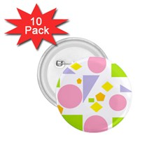 Spring Geometrics 1 75  Button (10 Pack) by StuffOrSomething