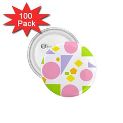 Spring Geometrics 1 75  Button (100 Pack) by StuffOrSomething