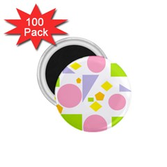 Spring Geometrics 1 75  Button Magnet (100 Pack) by StuffOrSomething