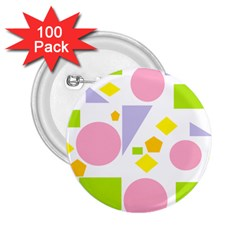 Spring Geometrics 2 25  Button (100 Pack) by StuffOrSomething