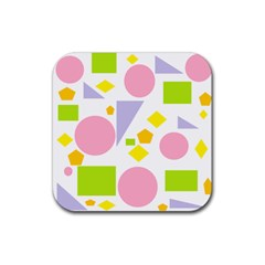 Spring Geometrics Drink Coaster (square) by StuffOrSomething