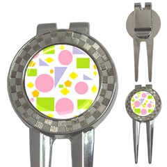 Spring Geometrics Golf Pitchfork & Ball Marker by StuffOrSomething