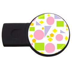 Spring Geometrics 4gb Usb Flash Drive (round) by StuffOrSomething