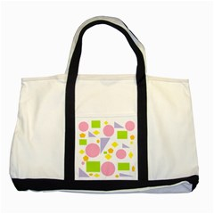 Spring Geometrics Two Toned Tote Bag by StuffOrSomething
