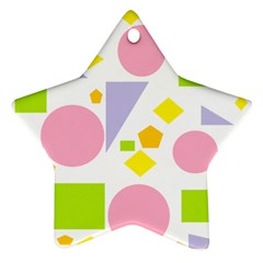 Spring Geometrics Star Ornament (two Sides) by StuffOrSomething