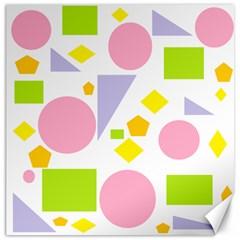 Spring Geometrics Canvas 16  X 16  (unframed) by StuffOrSomething