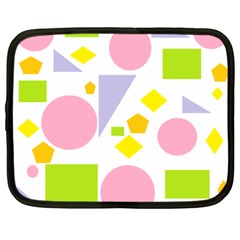 Spring Geometrics Netbook Sleeve (large) by StuffOrSomething