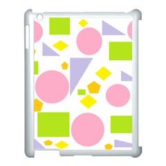 Spring Geometrics Apple Ipad 3/4 Case (white) by StuffOrSomething