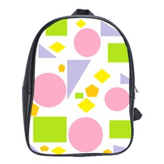 Spring Geometrics School Bag (xl) by StuffOrSomething
