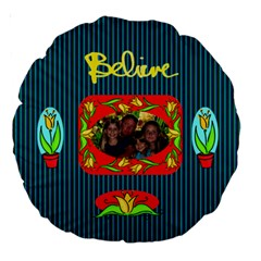 18  Believe Cushion, #3 By Joy Johns   Large 18  Premium Round Cushion    Rypblj4btqjr   Www Artscow Com Back