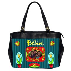 Believe Office Handbag, 2 Sides By Joy Johns   Oversize Office Handbag (2 Sides)   P5v9mws6p51d   Www Artscow Com Front