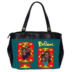 Believe Office Handbag, 2 Sides By Joy Johns   Oversize Office Handbag (2 Sides)   P5v9mws6p51d   Www Artscow Com Back