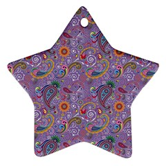 Purple Paisley Star Ornament by StuffOrSomething