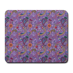 Purple Paisley Large Mouse Pad (rectangle) by StuffOrSomething