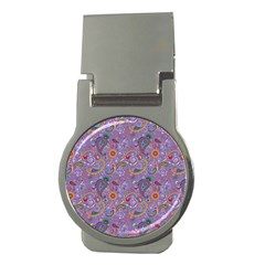 Purple Paisley Money Clip (round) by StuffOrSomething