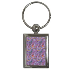 Purple Paisley Key Chain (rectangle) by StuffOrSomething