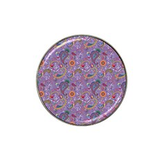 Purple Paisley Golf Ball Marker 4 Pack (for Hat Clip) by StuffOrSomething