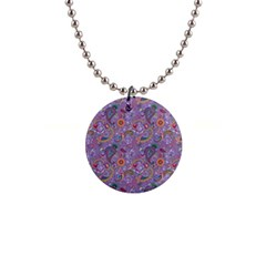 Purple Paisley Button Necklace by StuffOrSomething