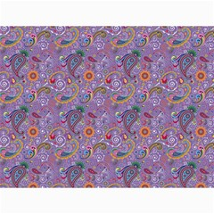 Purple Paisley Canvas 12  X 16  (unframed) by StuffOrSomething