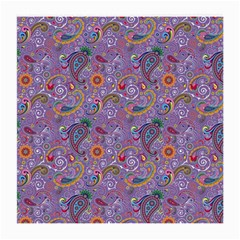 Purple Paisley Glasses Cloth (medium) by StuffOrSomething