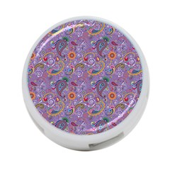 Purple Paisley 4 Port Usb Hub (one Side) by StuffOrSomething