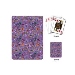 Purple Paisley Playing Cards (mini) by StuffOrSomething