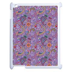 Purple Paisley Apple Ipad 2 Case (white) by StuffOrSomething