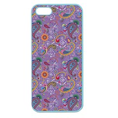 Purple Paisley Apple Seamless Iphone 5 Case (color) by StuffOrSomething