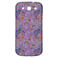 Purple Paisley Samsung Galaxy S3 S Iii Classic Hardshell Back Case by StuffOrSomething