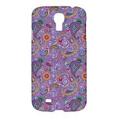 Purple Paisley Samsung Galaxy S4 I9500/i9505 Hardshell Case by StuffOrSomething