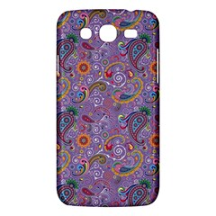 Purple Paisley Samsung Galaxy Mega 5 8 I9152 Hardshell Case  by StuffOrSomething
