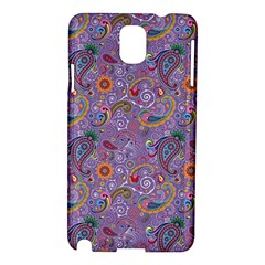 Purple Paisley Samsung Galaxy Note 3 N9005 Hardshell Case by StuffOrSomething