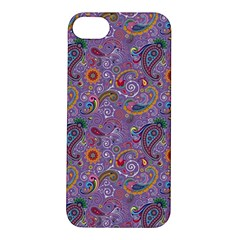 Purple Paisley Apple Iphone 5s Hardshell Case by StuffOrSomething