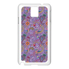 Purple Paisley Samsung Galaxy Note 3 N9005 Case (white) by StuffOrSomething