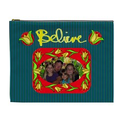 Believe Xl Cosmetic Bag By Joy Johns   Cosmetic Bag (xl)   Zxrbgw4b8iqz   Www Artscow Com Front