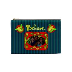 Believe Medium Cosmetic Bag By Joy Johns   Cosmetic Bag (medium)   0e7towosetwb   Www Artscow Com Front