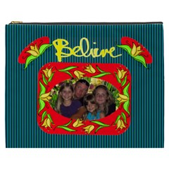 Believe Xxxl Cosmetic Bag By Joy Johns   Cosmetic Bag (xxxl)   Gkr8xvryrwe5   Www Artscow Com Front