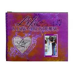 Love Song Xl Cosmetic Bag By Joy Johns   Cosmetic Bag (xl)   Ftu9y5n9ro3a   Www Artscow Com Front