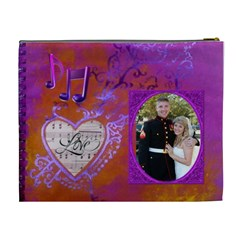 Love Song Xl Cosmetic Bag By Joy Johns   Cosmetic Bag (xl)   Ftu9y5n9ro3a   Www Artscow Com Back