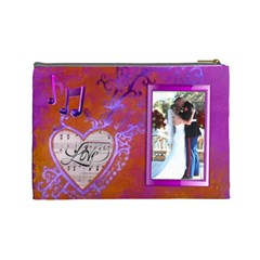 Love Song Large Cosmetic Bag By Joy Johns   Cosmetic Bag (large)   Kcvxwhtbhukb   Www Artscow Com Back