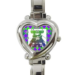 Mine Heart Italian Charm Watch  by Siebenhuehner