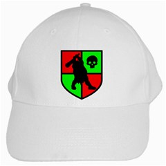 Angry Ogre Games Logo White Baseball Cap by AngryOgreGames
