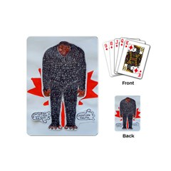 Big Foot H, Canada Flag Playing Cards (mini) by creationtruth