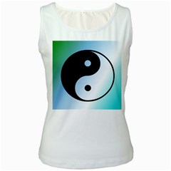 Ying Yang  Women s Tank Top (white) by Siebenhuehner