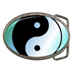 Ying Yang  Belt Buckle (oval) by Siebenhuehner