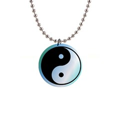 Ying Yang  Button Necklace by Siebenhuehner