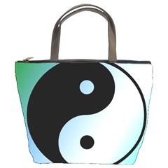 Ying Yang  Bucket Handbag by Siebenhuehner