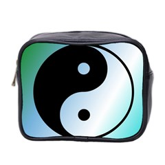 Ying Yang  Mini Travel Toiletry Bag (two Sides) by Siebenhuehner